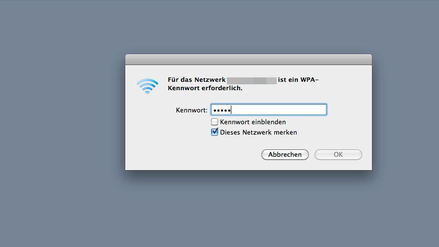 """Passworteingabe (Screenshot): """"Leute sagen, es sei nicht möglich, WPA zu knacken"""""""