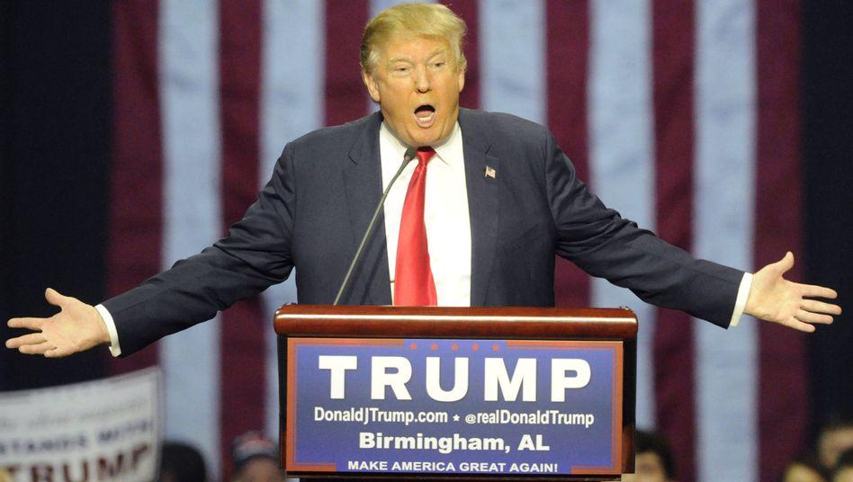 """US-Politiker Trump: """"Abertausende Menschen beim Jubeln beobachtet"""""""