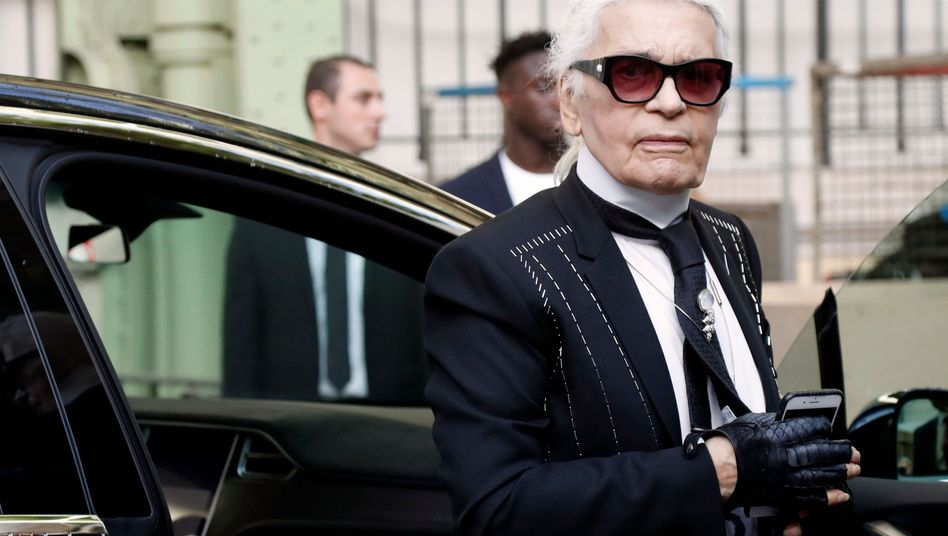 Modeschöpfer Karl Lagerfeld