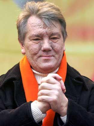 Juschtschenko im November: Sein Gesicht ist von Krankheit gezeichnet