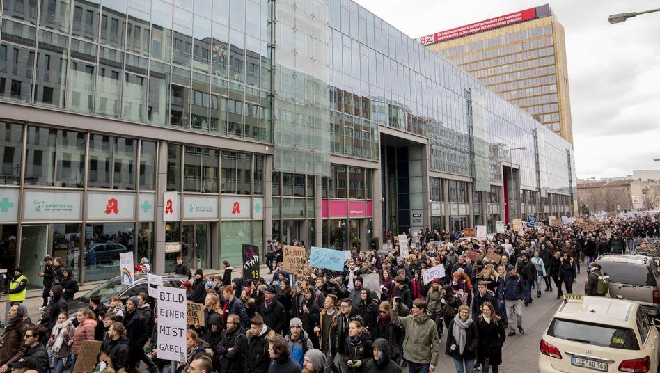 """Demonstration des Bündnisses """"Berlin gegen 13"""" gegen Upload-Filter"""