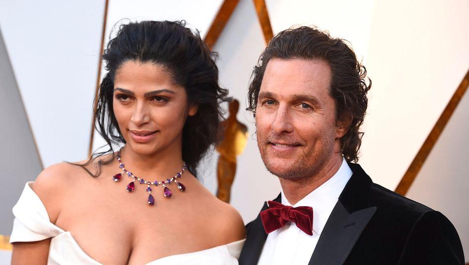 Matthew McConaughey mit Ehefrau Camila Alves