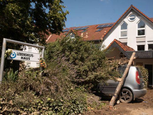 Lebenshilfehaus in Sinzig nach dem Rekordhochwasser
