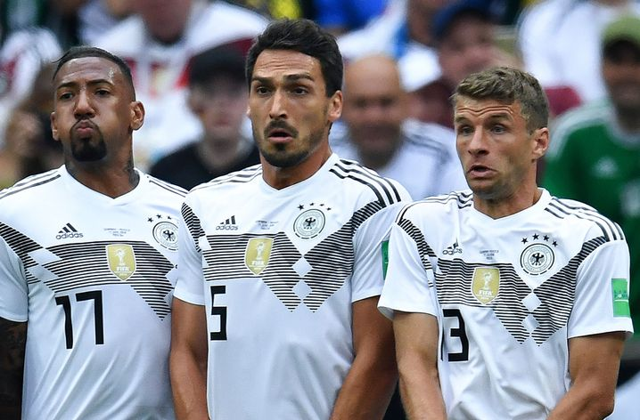 Boateng, Hummels und Müller im DFB-Trikot
