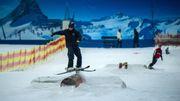 Skifahren im Hochsommer, mitten in Deutschland