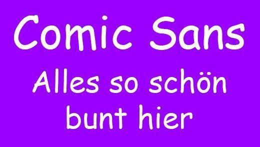 Klar statt krakelig: Comic Sans und Comic Neue im Vergleich
