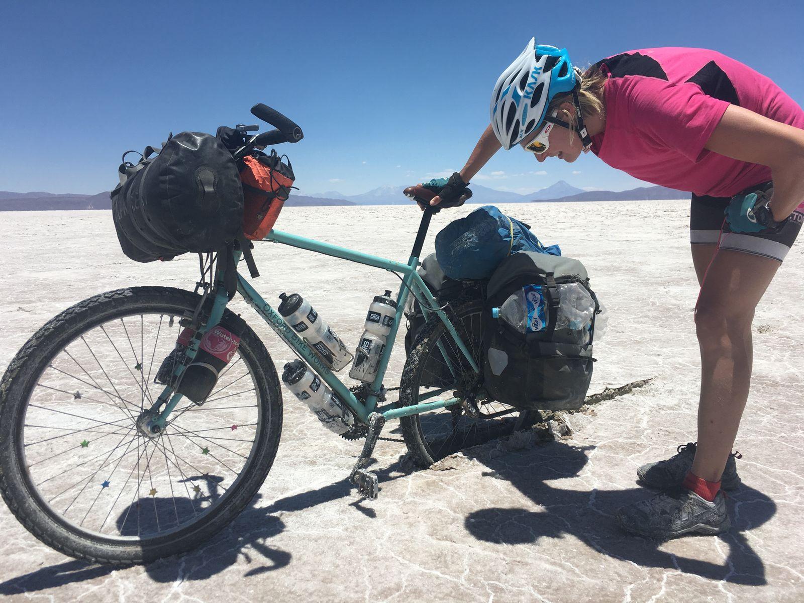 Trying to cross the Coipasa salt flats Bolivia