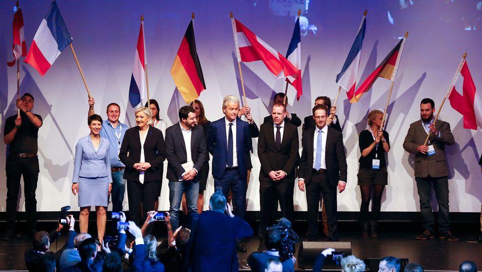 Treffen Europäischer Rechter im Januar 2017 in Koblenz