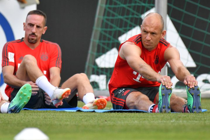 Arjen Robben (r.) und Franck Ribéry