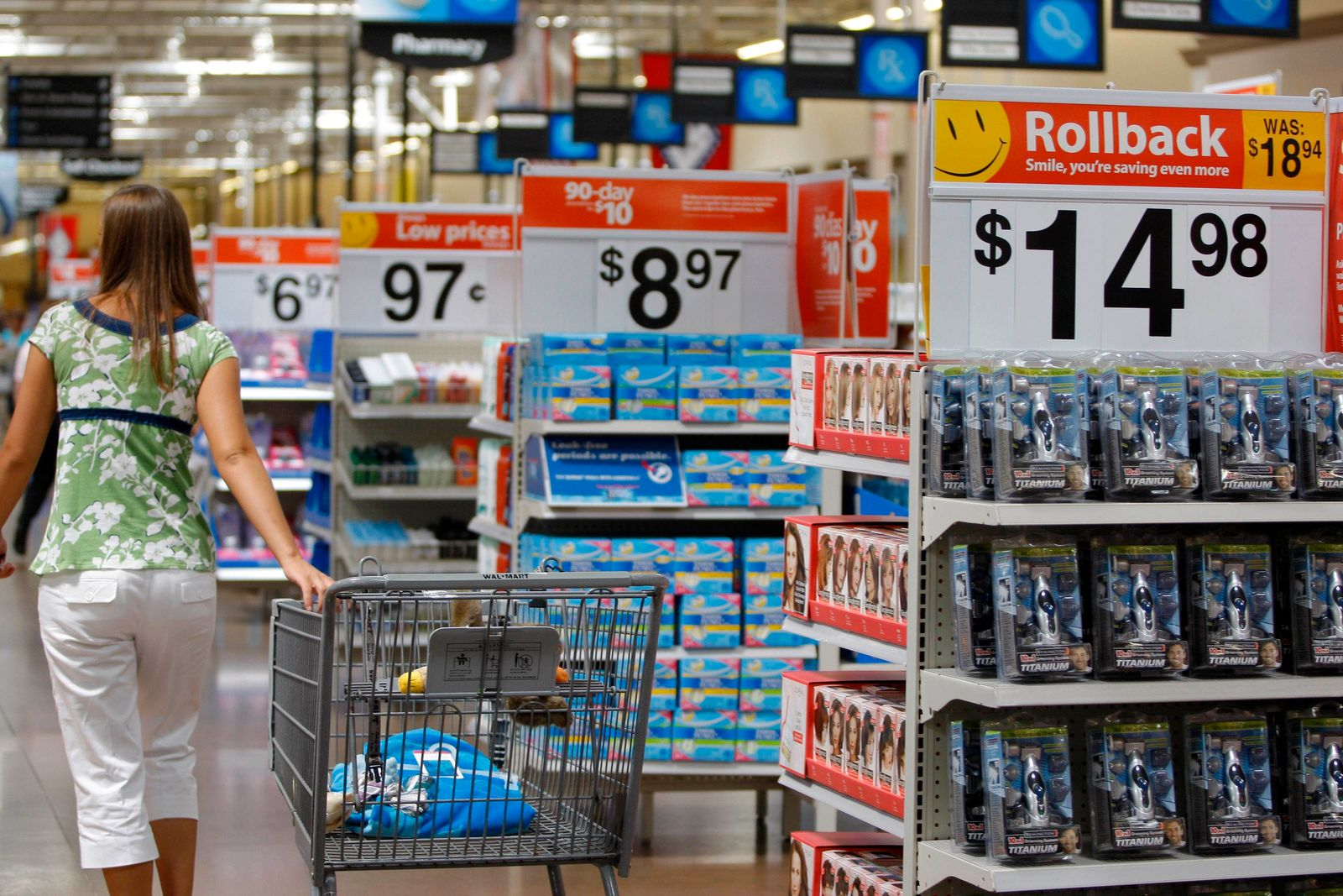 File image of a customer at a Wal-Mart Supercenter in Arkansas