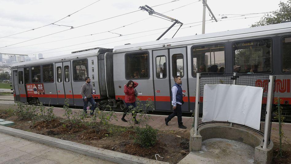 Zug der San Francisco Muni