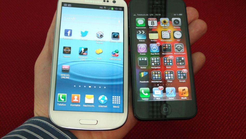 Samsung Galaxy, iPhone 5: Erbitterter Konkurrenzkampf