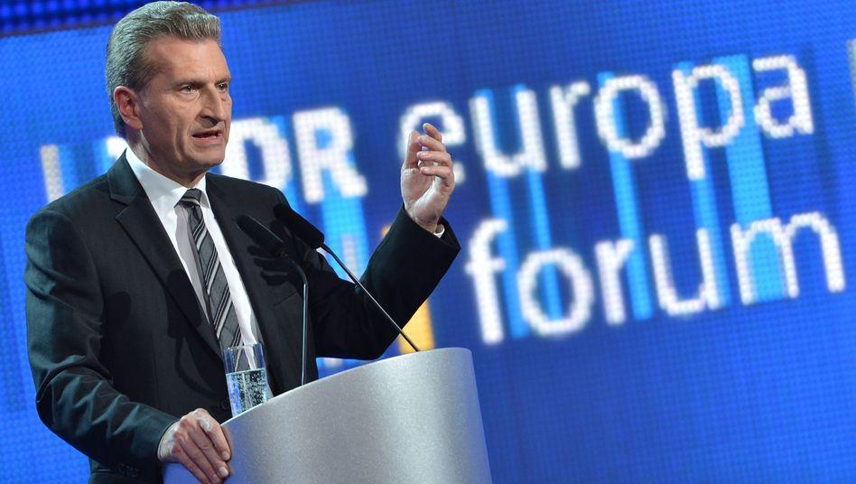 """EU-Energiekommissar Günther Oettinger: """"Ich neige zu diesem Weg"""""""
