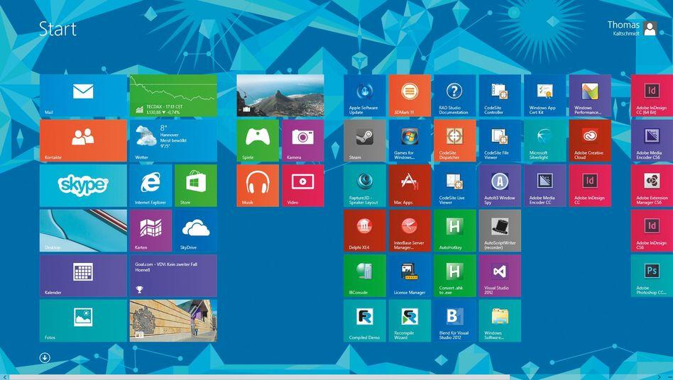 Windows 8.1: Mit etwas Mühe läuft das Kachelsystem auf dem Mac