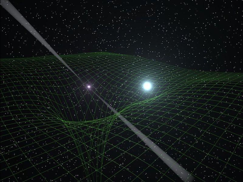 GRAFIK Relativitätstheorie / Einstein
