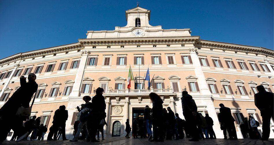 Parlamentssitz in Rom: Relativ günstige Bedingungen für frisches Geld