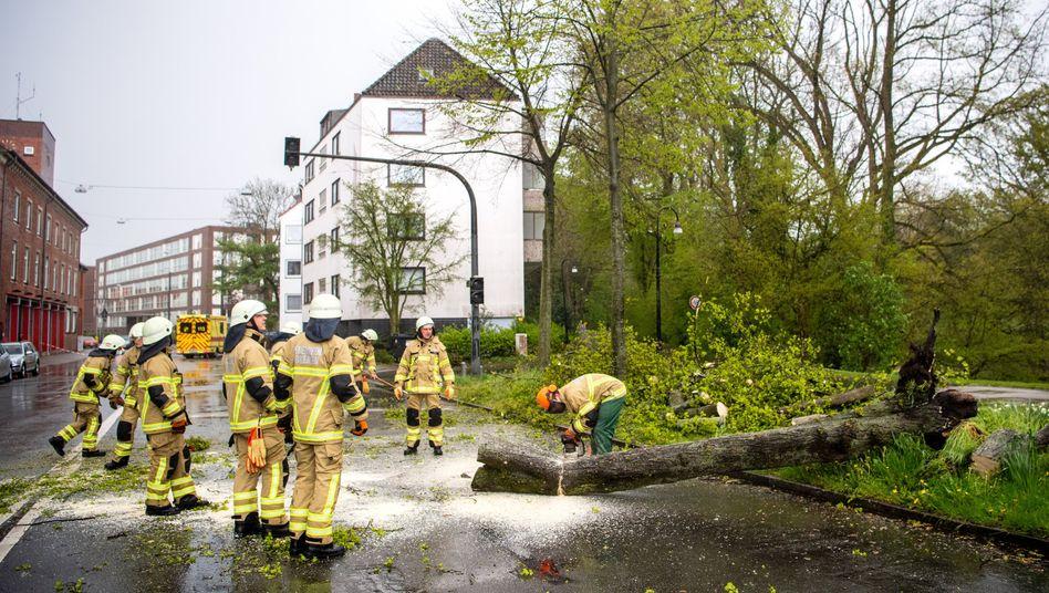 Feuerwehreinsatz in Bremen: Die Folgen des Sturms
