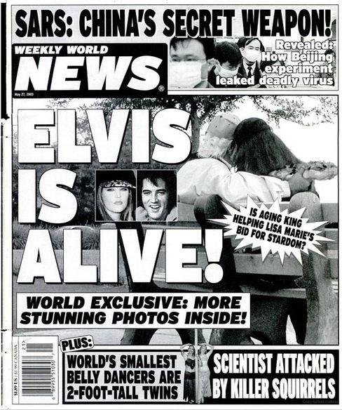 Verkaufsschlager: »Weekly World News« weiß Bescheid