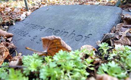 Letzte Ruhe: Nun auch für das Gehirn von Ulrike Meinhof