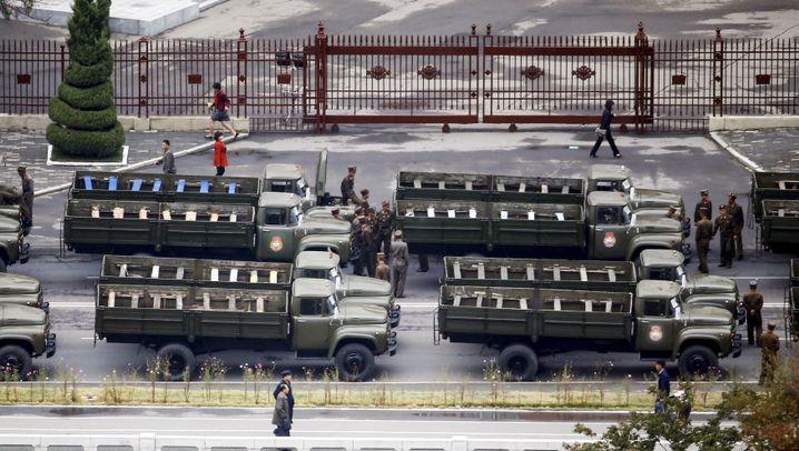 Nordkorea: Aufmarsch in Pjöngjang