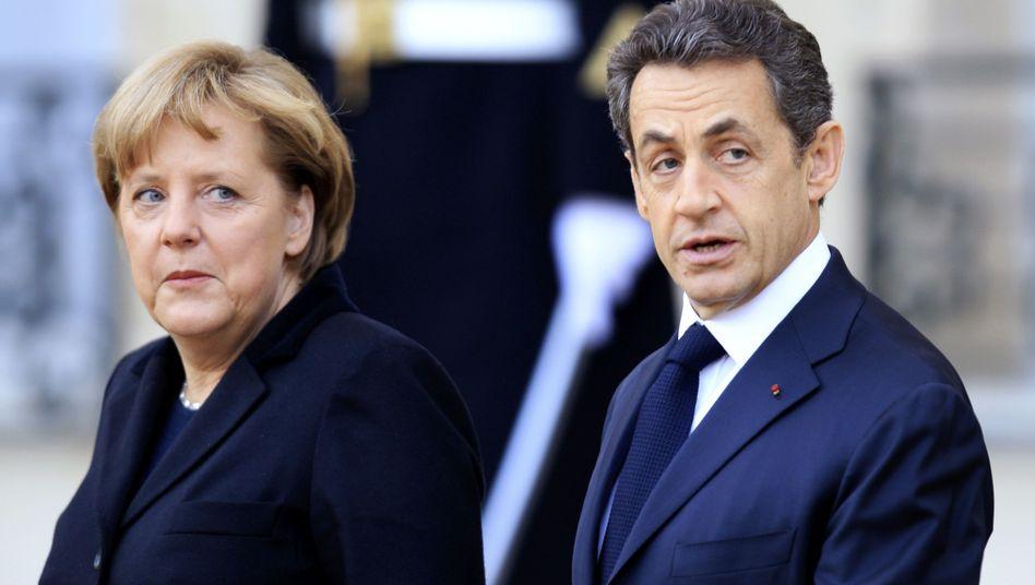 """Euro-Partner Merkel und Sarkozy: """"Keine weiteren Maßnahmen"""""""