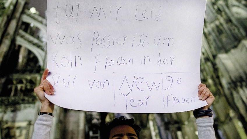 Asylbewerber am Kölner Dom