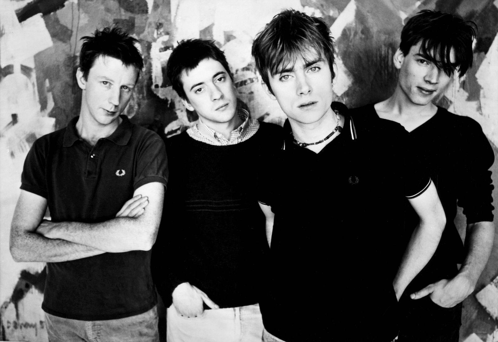Blur, Graham Coxon, Dave Rowntree, Alex James & Damon Albarn Indie/Alternative Rock Band Picture Credit; Zanna Emi Recor