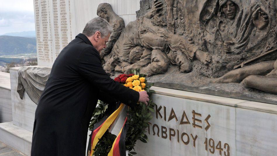 Bundespräsident Gauck in Griechenland: Worte der Entschuldigung