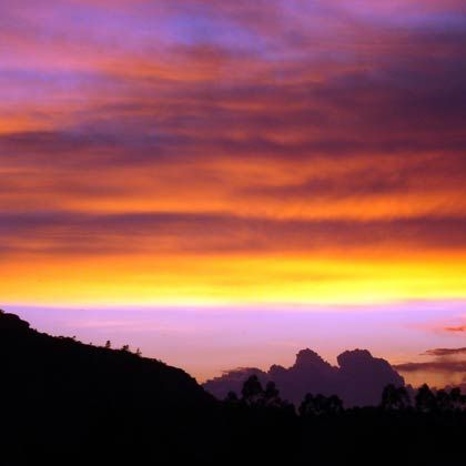 Postkartentauglich: Sonnenuntergang in der Region Sarapiquí