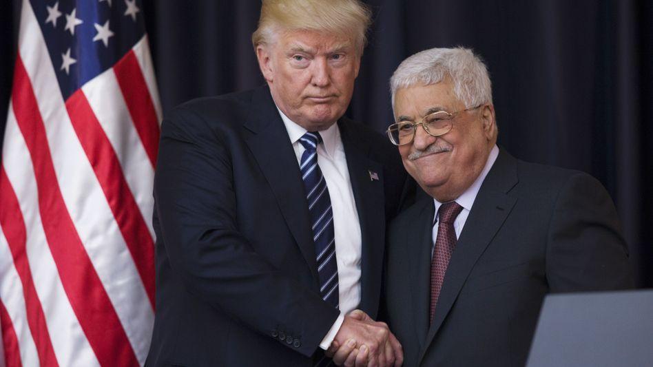 """Donald Trump und Mahmoud Abbas (2017): """"Die Realitäten anerkennen"""""""
