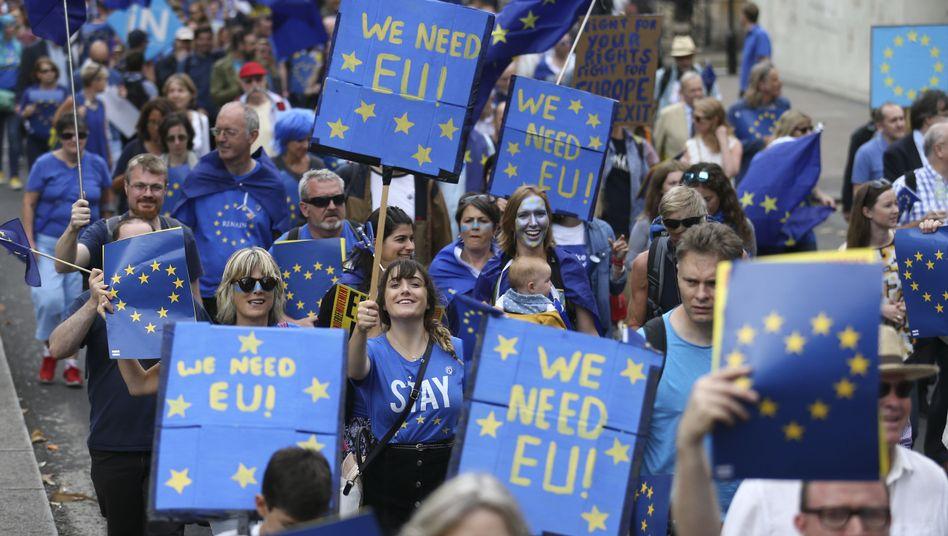Pro-Europa-Demo in London (September 2016)