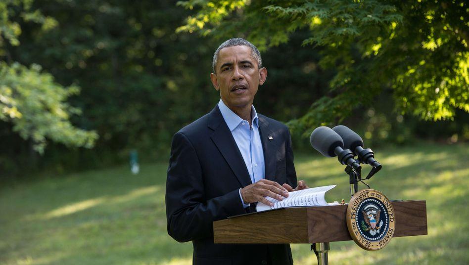 Obama im Urlaubsort Martha's Vineyard: Der Irak müsse eine geeinte Regierung bilden