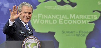 """Bush at the closing press conference: """"Goodbye"""""""