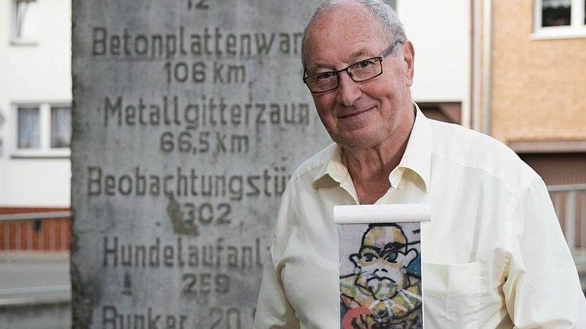 Steinmetz Spitzenberg mit Original und Modell