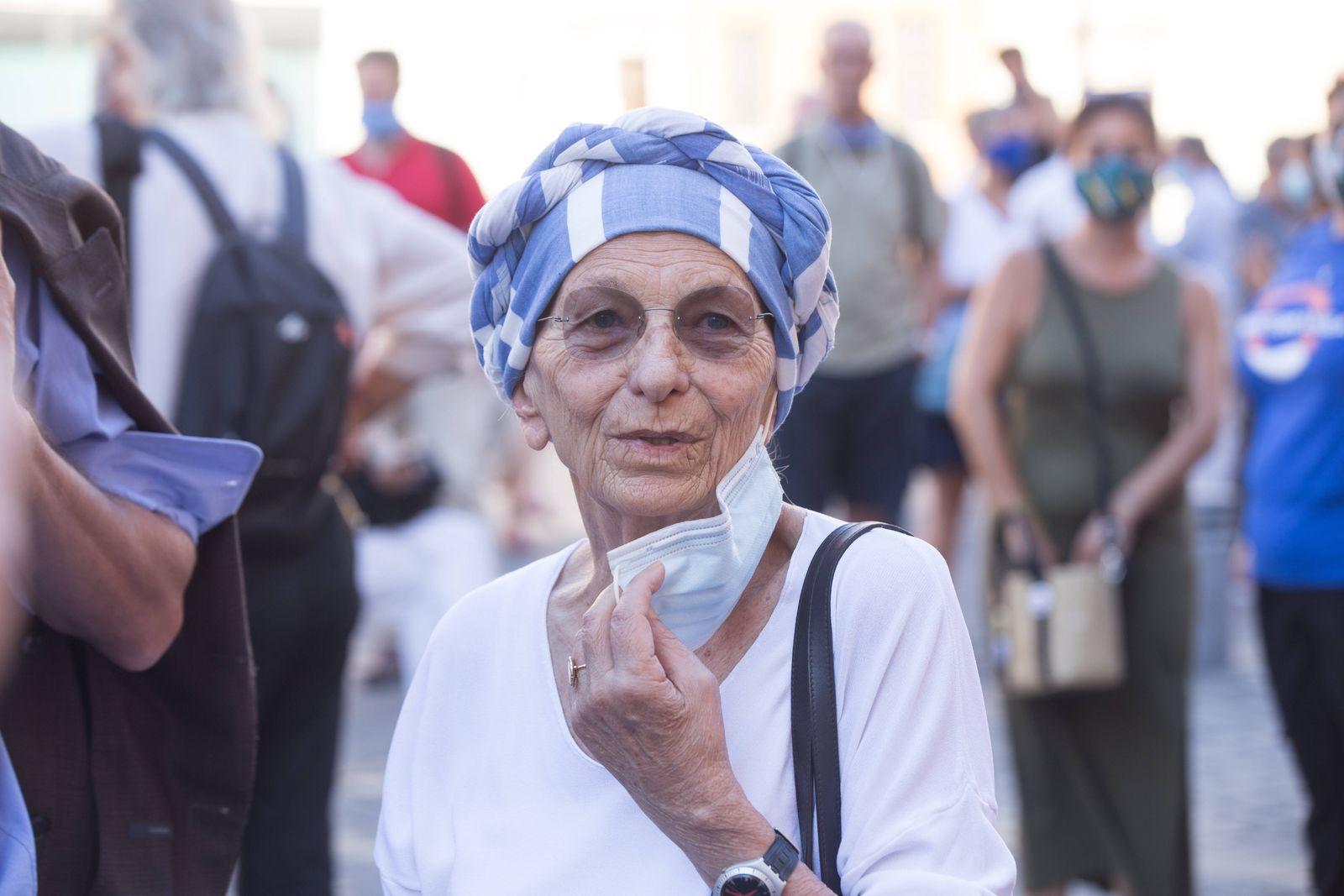 Italy: Against funding to Libyan coastguard Emma Bonino Roma RM Italy Copyright: MatteoxNardone