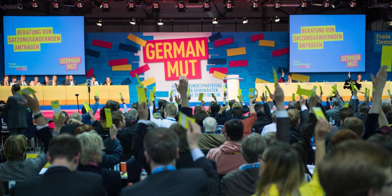 FDP-Bundesparteitag/ Abstimmung