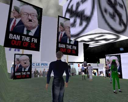 Virtuelle Demo gegen Le Pen: Auch mit Bärtchen noch gut zu erkennen