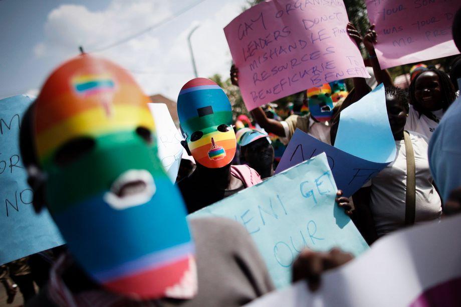 Demonstration gegen Ugandas homophobe Gesetzgebung