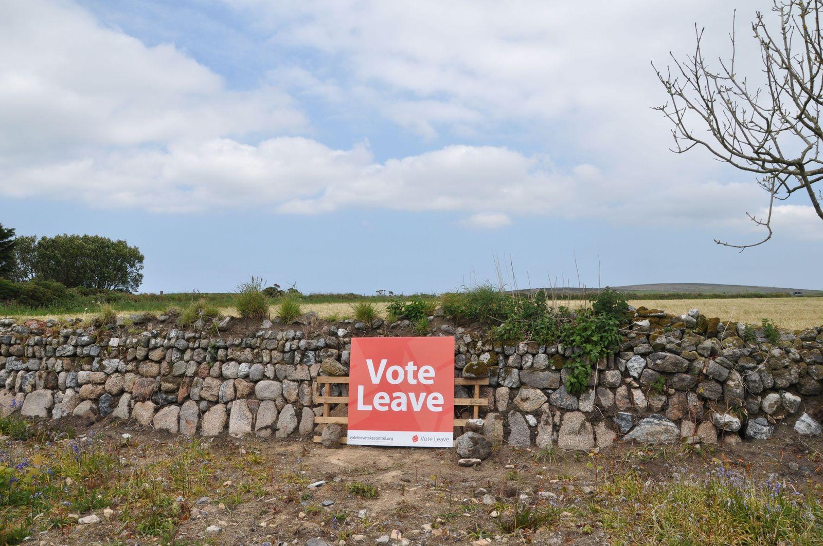 EINMALIGE VERWENDUNG Cornwall / Brexit