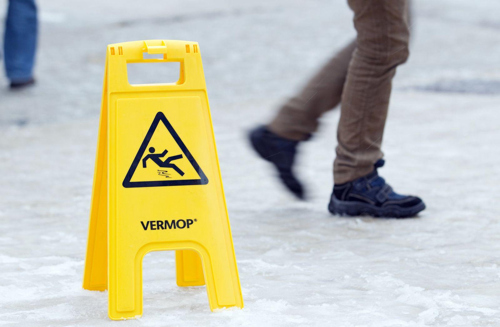 Winterwetter - Vorsicht Rutschgefahr