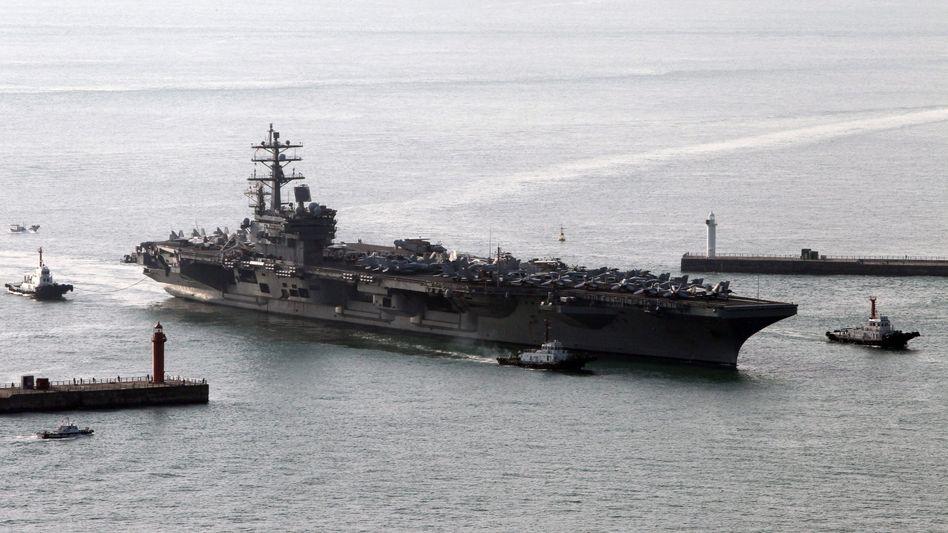 """US-Flugzeugträger USS """"Ronald Reagan"""": Halben Tag verfolgt"""
