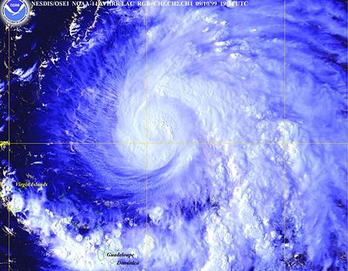 Hurrikan Floyd hatte 1999 eine Spur der Verwüstung hinterlassen