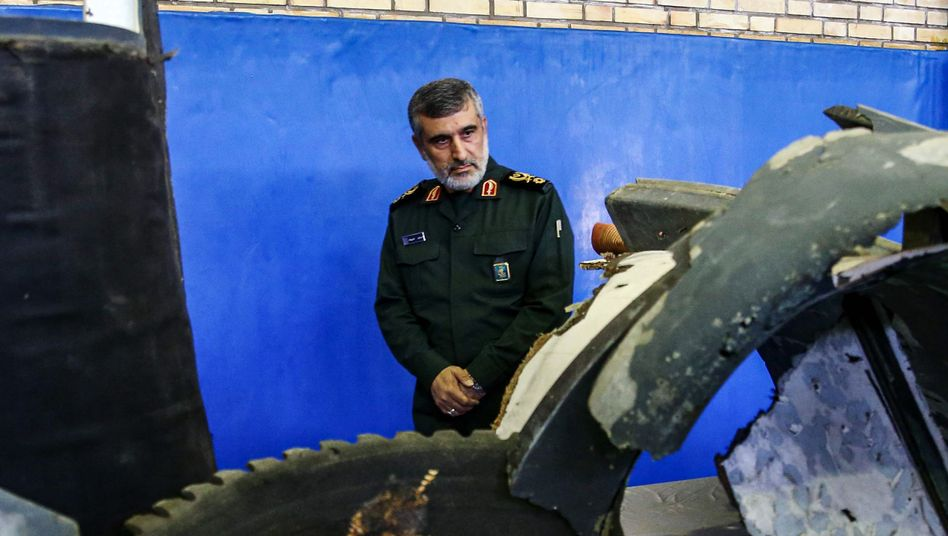 "General Amir Ali Hajizadeh in Teheran: ""Volle Verantwortung"" (Archivfoto von 2019)"
