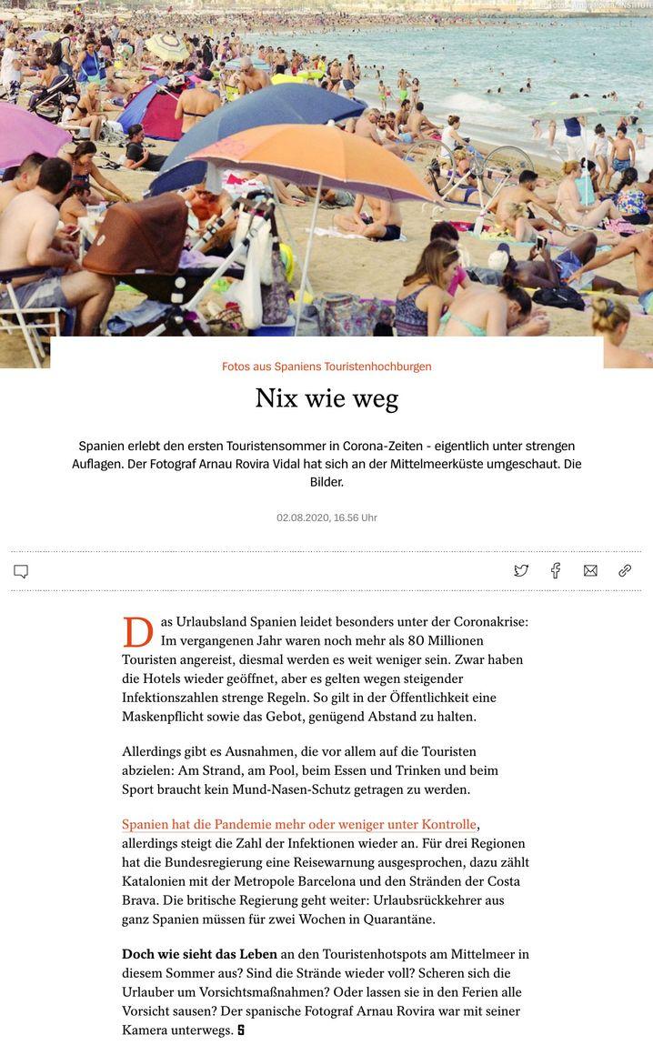 """Screenshot vom Artikel """"Nix wie weg"""""""