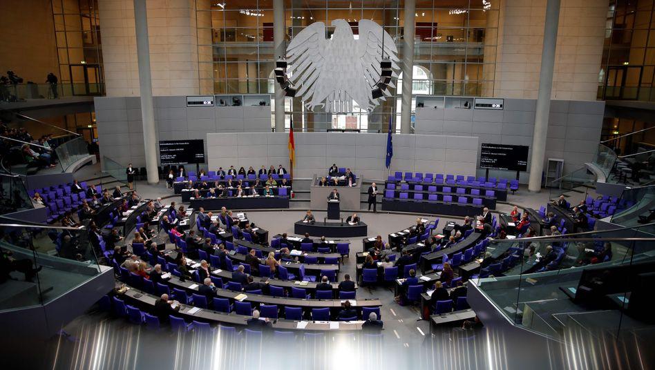 Plenum im Reichstagsgebäude