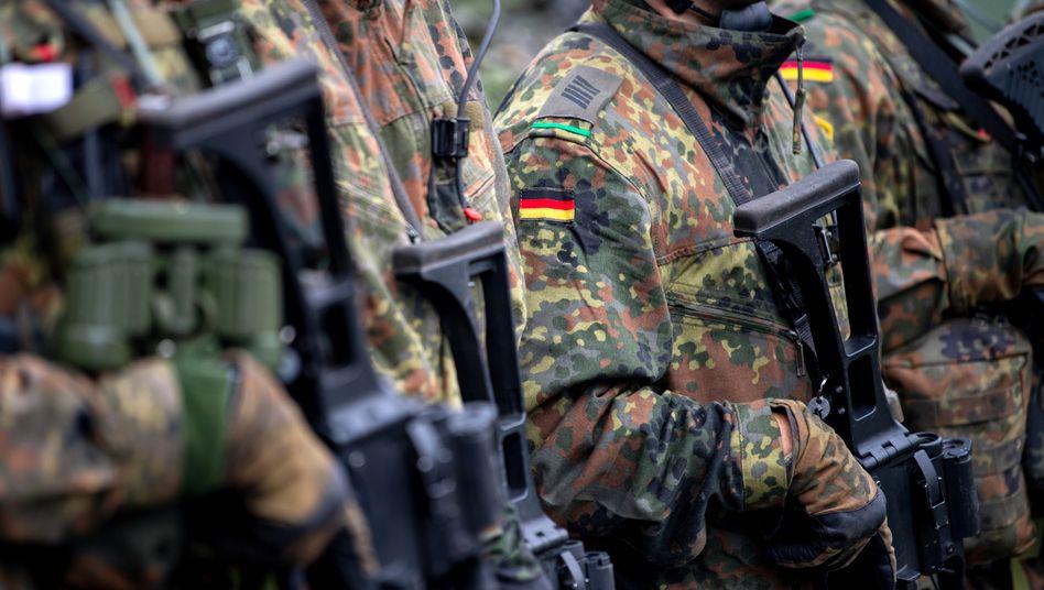 Deutsche Soldaten der Enhanced Forward Presence (eFP) Battle Group in Litauen (Archivbild)