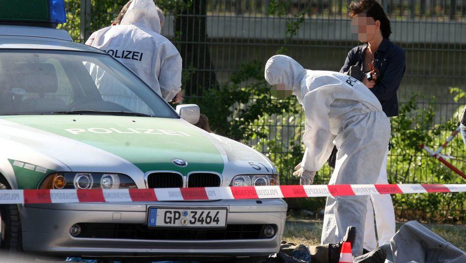 "Ermittler am Tatort in Heilbronn (April 2007): ""Alles hochgekommen"""