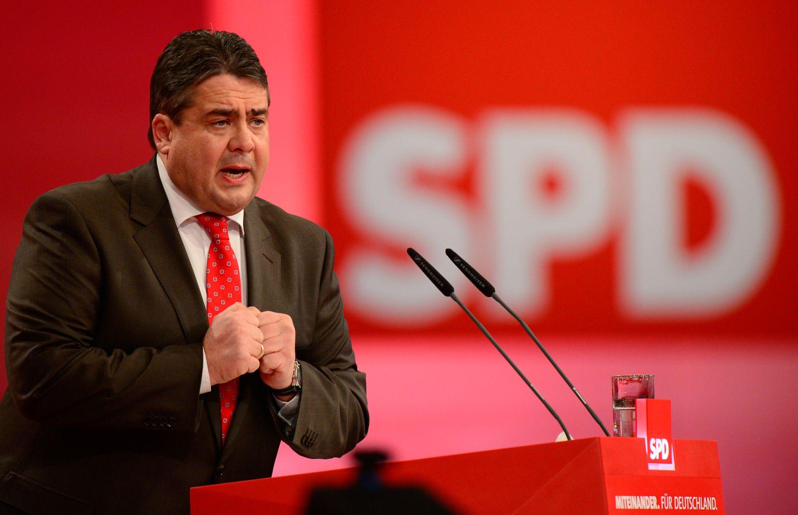 NICHT VERWENDEN SPD Bundesparteitag/ Gabriel