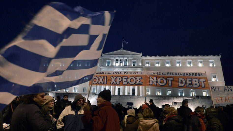 Proteste in Athen, Streit in Brüssel