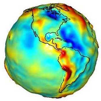 Gravitations-Modell der Nasa: Störungen herausgerechnet, um Einsteins Vorhersage zu beweisen